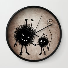 Evil Flower Bug Mother's Day Wall Clock