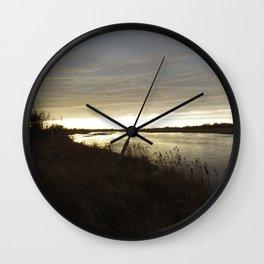 Along the North Platte River, Nebraska Wall Clock