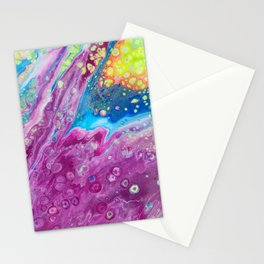 Dirty Pour Acrylic Paint Stationery Cards