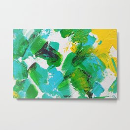Summer Park Splatter with blur Metal Print