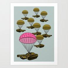 Tank Parachute Art Print