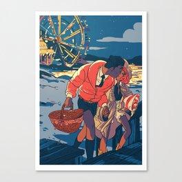 date at the beach! Canvas Print