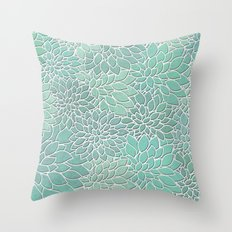 Floral Abstract 28 Throw Pillow