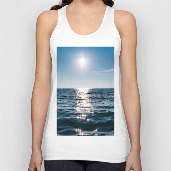 Sea Blue Sky sun Unisex Tank Top