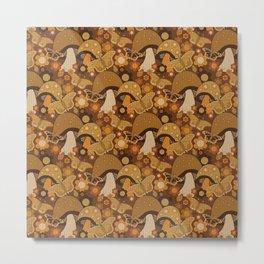 Mushroom Stitch Metal Print