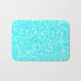 Blue triangle background Bath Mat