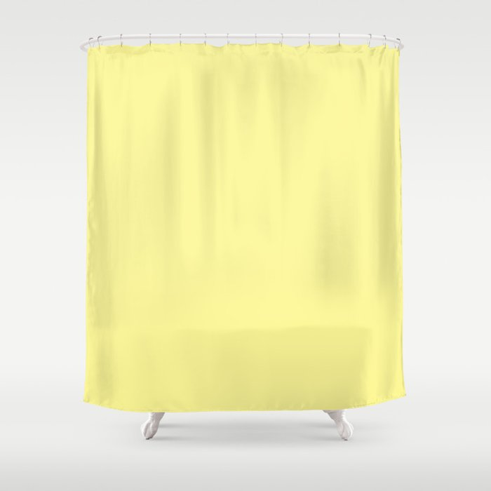 Simply Pastel Yellow Shower Curtain