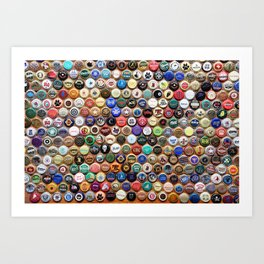 Beer and Ale Bottle Caps Art Print
