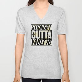 Straight Outta Vault 76 - Fallout Unisex V-Neck