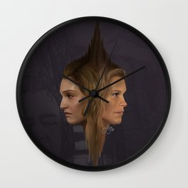Two Minds, One body Wall Clock