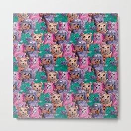 teddy magic bear pattern Metal Print