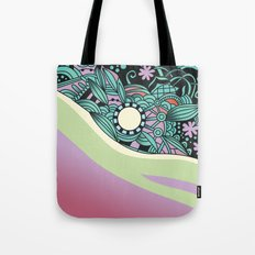 Soft pastel square ornament Tote Bag