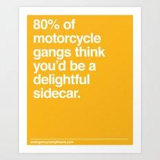 Delightful Sidecar Art Print