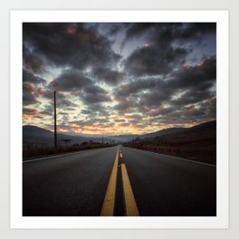 Road Sunrise Art Print