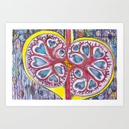 kidney heart Art Print