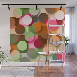 dots & squares Wall Mural