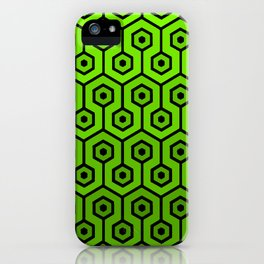 Geometric Design 1 (Lime) iPhone Case