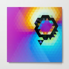 yellowpinkblue Metal Print