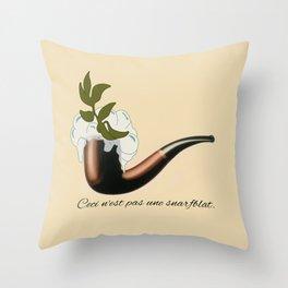 The Treachery of Seagulls Throw Pillow