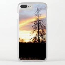 Fire in the sky. Clear iPhone Case