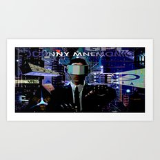 JOHNNY MNEMONIC Art Print