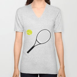 Tennis Racket And Ball 1 Unisex V-Neck