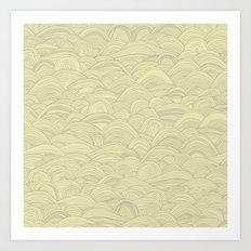 just waves natural Art Print