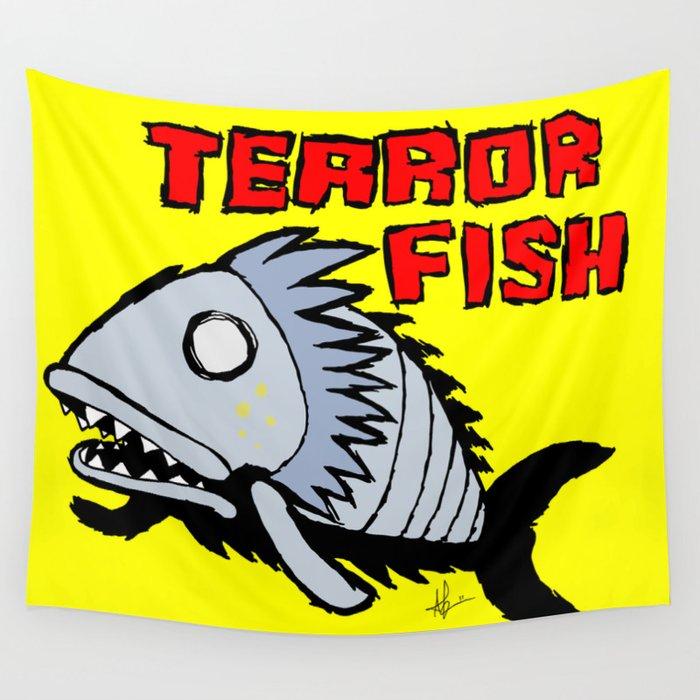 Terror fish Wall Tapestry