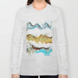 Turquoise and ochre II Long Sleeve T-shirt