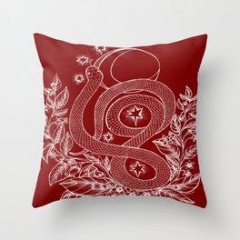 Killing Moon - Snake and Nightshade Throw Pillow