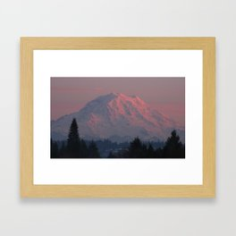 Mountain Blush Framed Art Print