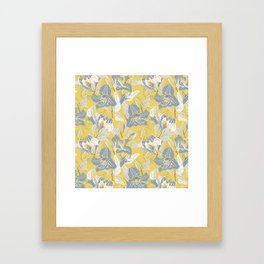 blue clematis sunshine Framed Art Print