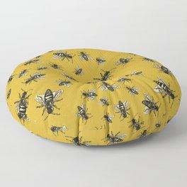 Oshun's Anthophila  (the bee study) Floor Pillow