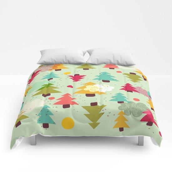 TREES UPSIDE DOWN Comforters