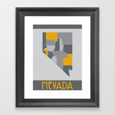Nevada State Map Print Framed Art Print
