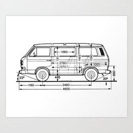 Vintage Bus Syncro Art Print