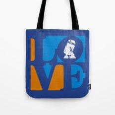 Robot LOVE - Blue Tote Bag