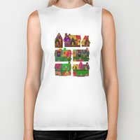 merry christmas Biker Tanks featuring Merry Christmas! by Klara Acel