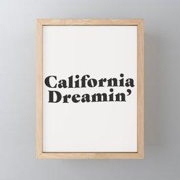 California Dreaming - Dark Framed Mini Art Print