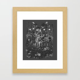 Party Animals - Monotone Version Framed Art Print