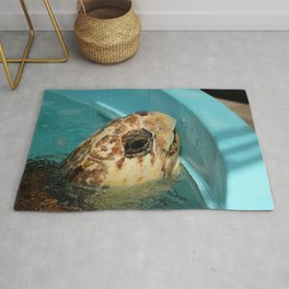 Sea Turtle Close up Rug