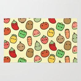 Cute fruit and veg Rug