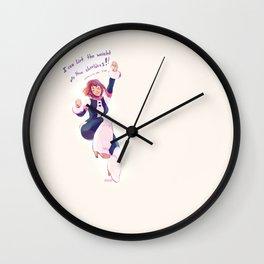 Motivational Uraraka Wall Clock