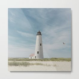 Great Point Light on Nantucket Island Metal Print