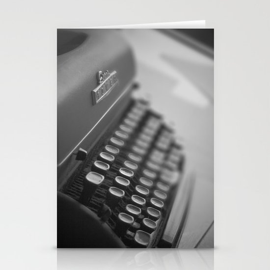 Black and White Typewriter  Stationery Cards