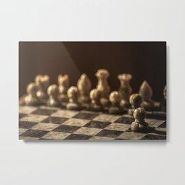 Chess 2of2 Metal Print