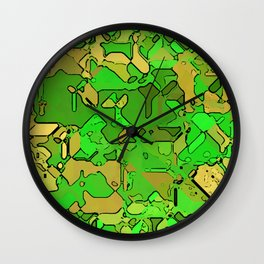 Abstract segmented 2 Wall Clock