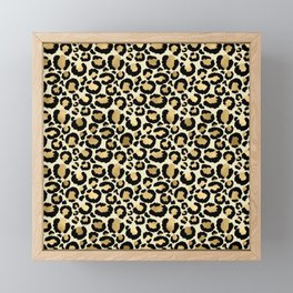 Gold Leopard Print Framed Mini Art Print