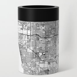 Los Angeles White Map Can Cooler
