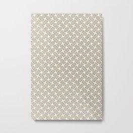 Cute Japanese Pattern Wooden Brown Metal Print